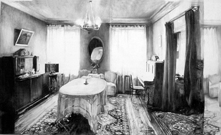 Acanthus Interior - Drawing By Olexander Wlasenko